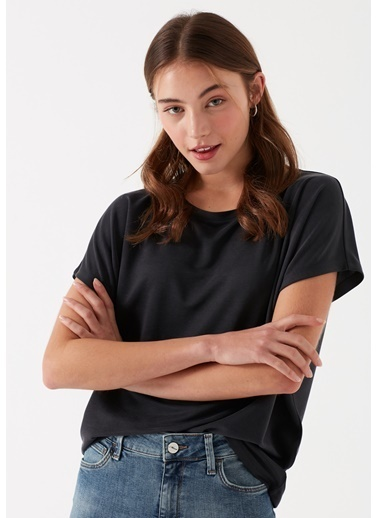 Mavi Lux Touch  Modal Tişört Siyah